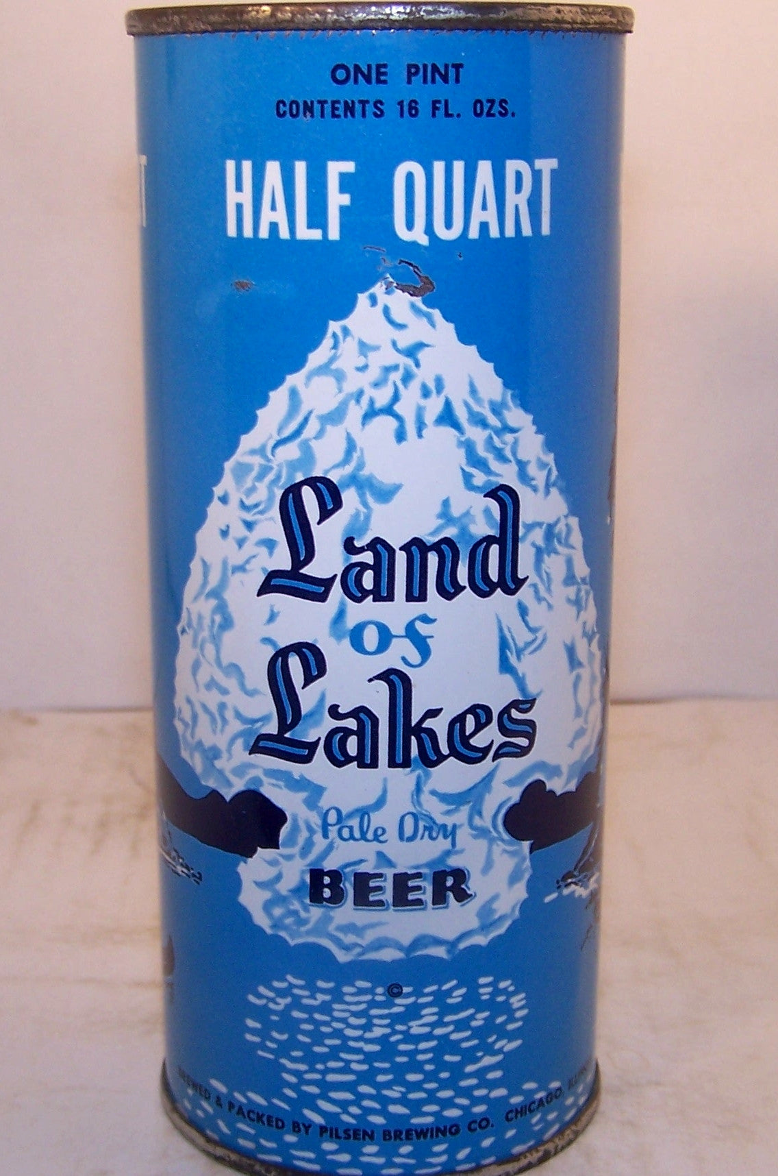 Land of Lakes pale dry beer, half quart, USBC 232-1 Grade 1/1- Sold on 2/28/15