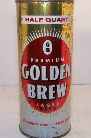 Golden Brew Lager, half quart, USBC 229-32, Grade 1- Sold 1/31/15