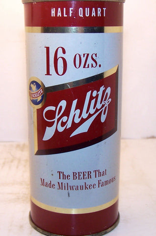Schlitz Beer half quart, USBC 235-27, Grade 1/1+ Sold on 05/13/16