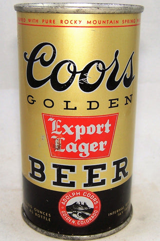 Coors Golden Export Beer, (Double Aged) USBC 51-16, Grade 1 sold 5/8/18