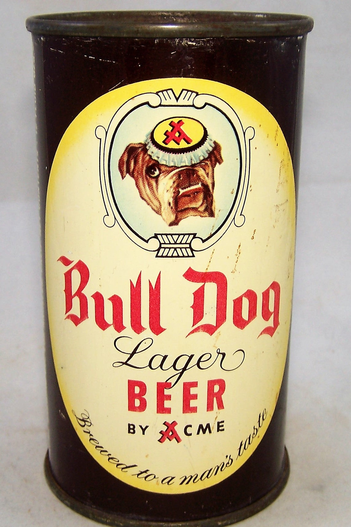 Bull Dog Lager Beer, USBC 45-16, Grade 1- Sold on 07/27/18