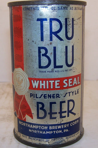 Tru Blu  White Seal Beer, Lilek Page # 811?  has a semi metallic finish, Grade 2+  Sold 11/17/14