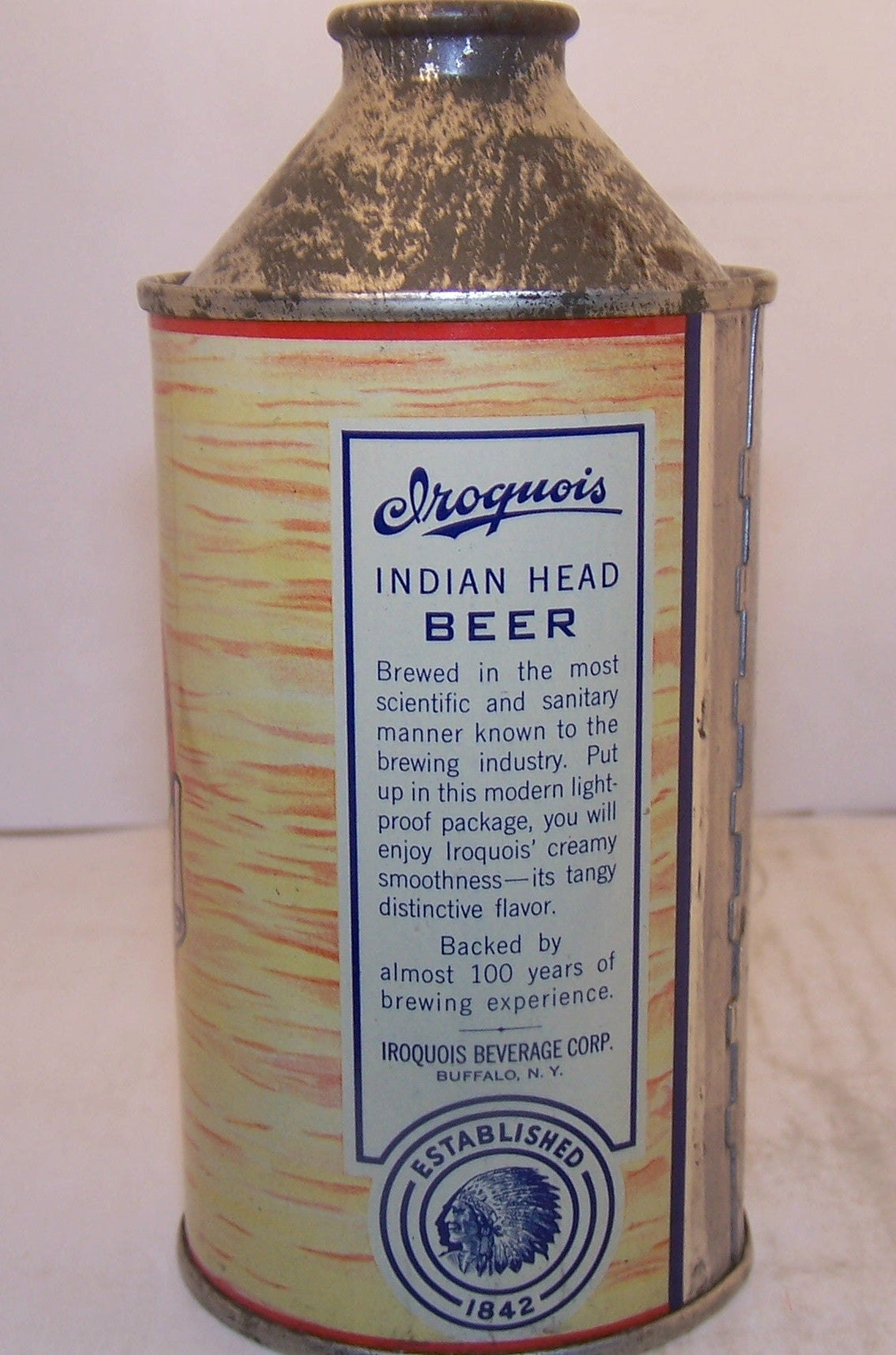 Iroquois Indian Head Beer, USBC 170-10 Grade 1/1+ Sold 2/28/15
