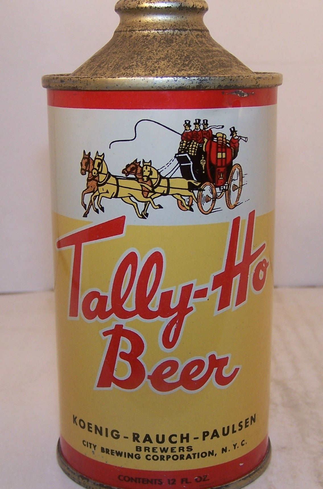 Tally-Ho Beer, USBC 186-23 Grade 1/1+ Sold 5/21/15