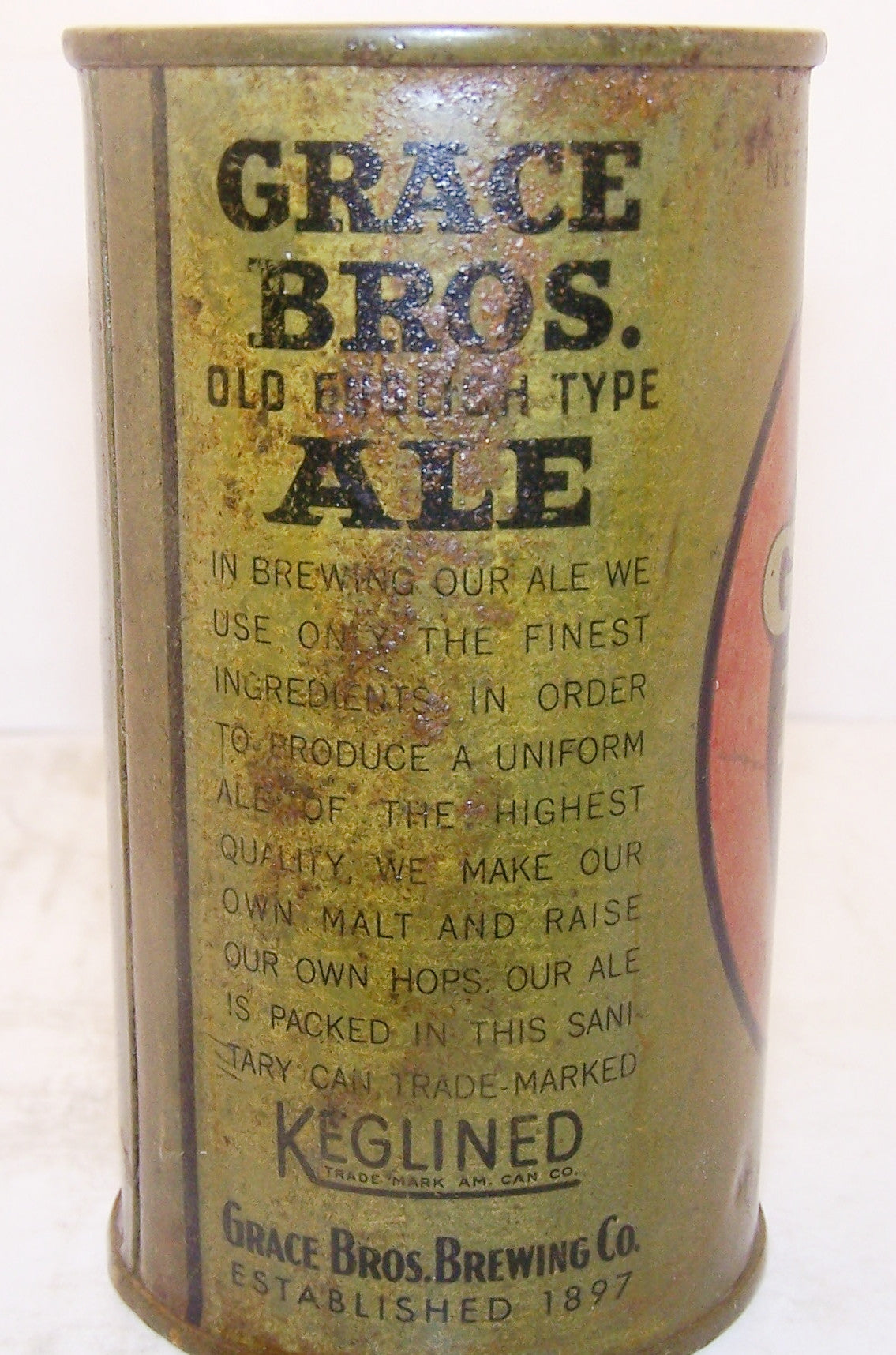 Grace Bros. English Type Ale, Lilek page # 307 Grade 3