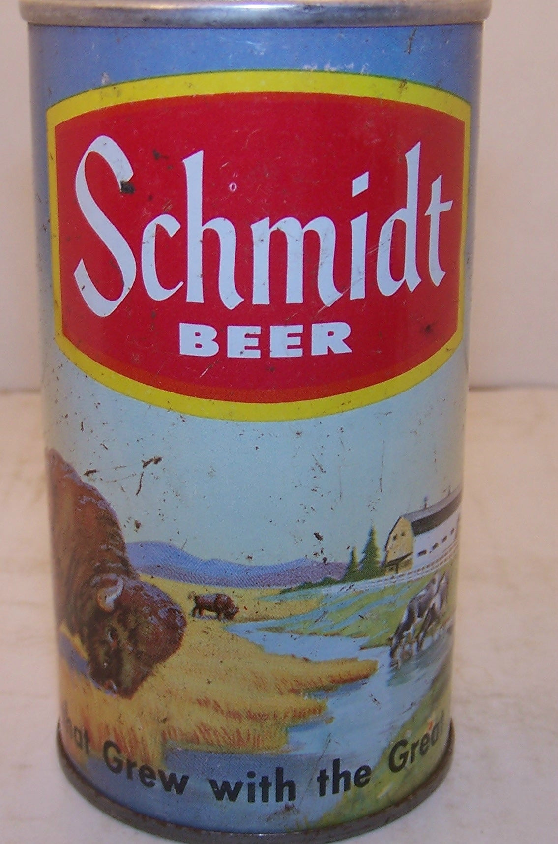 Schmidt Beer White Seam, Buffalo. USBC II 193-set 6-1 Grade 2+ Sold on 08/11/17