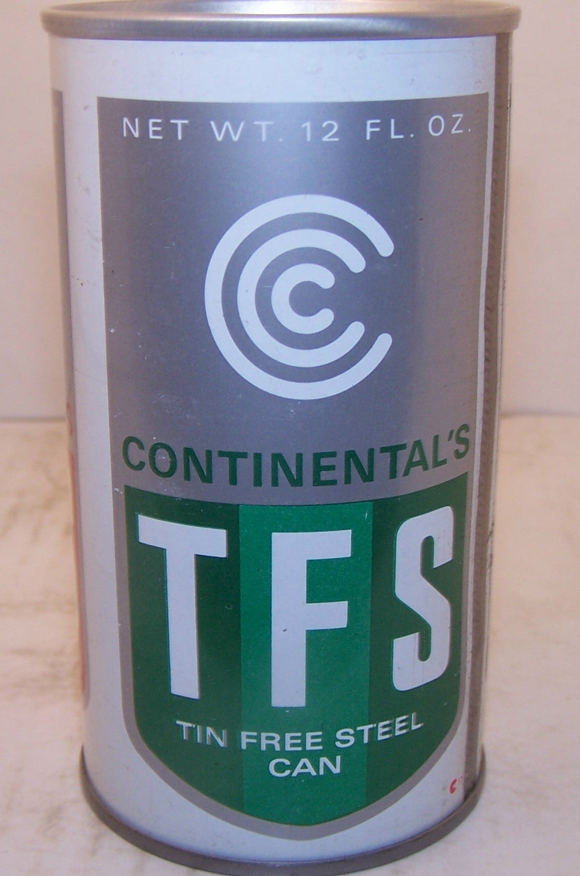 TFS Continental tin free steel can, Air-sealed, Grade 1/1+