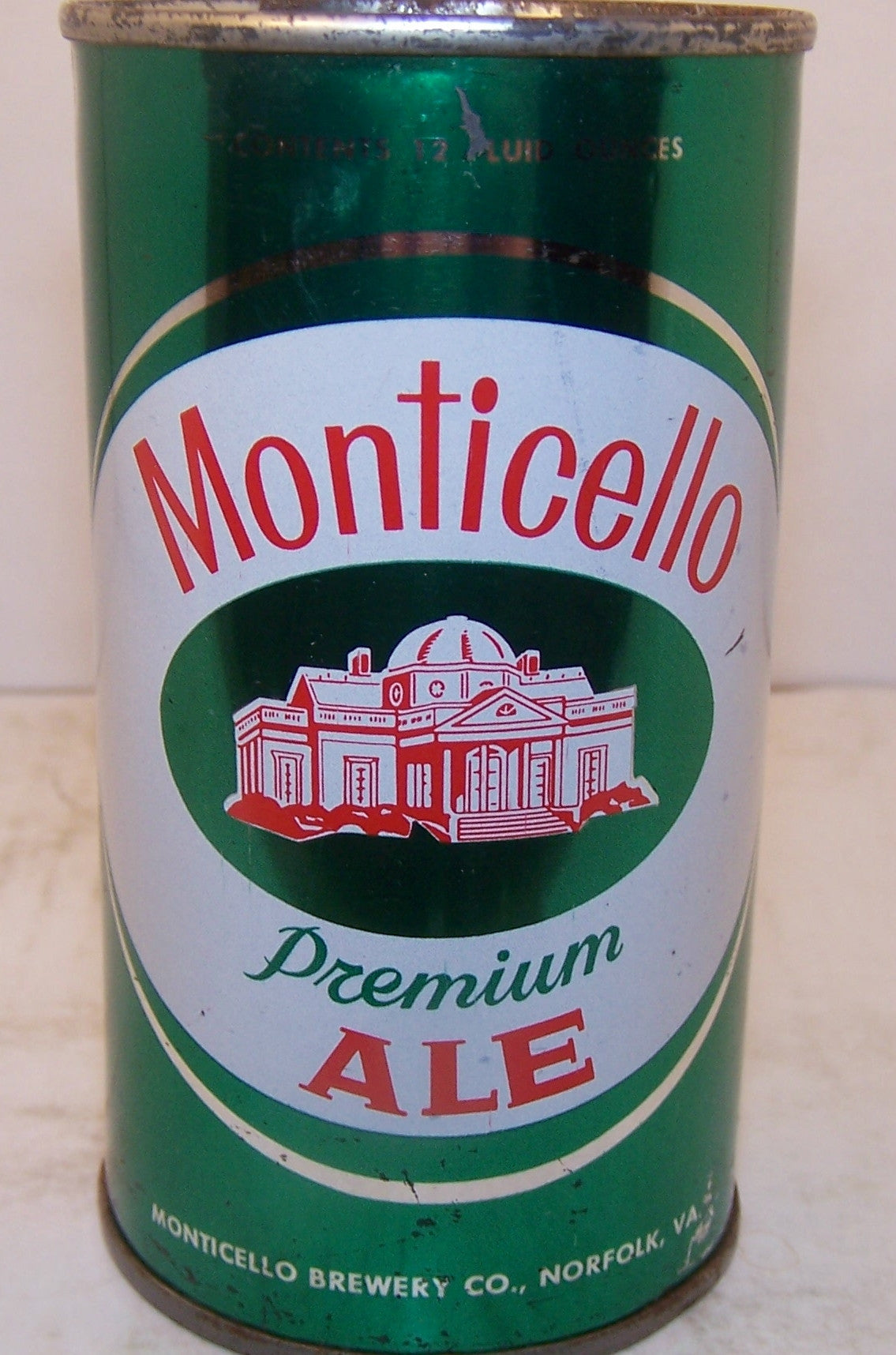 Monticello Premium Ale, USBC II 95-4 Grade 1/1- Sold on 4/12/15