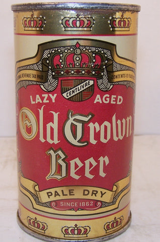 Old Crown Beer, Lazy Aged, Lilek page # 590, Grade 1 Sold 12/30/14