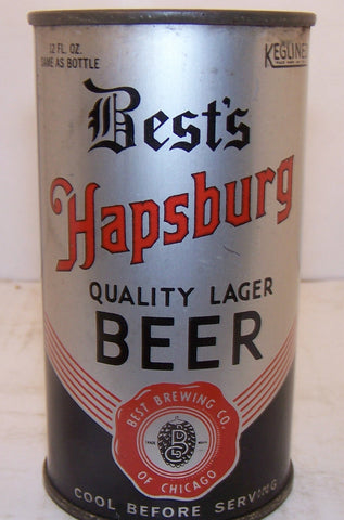 Best's Hapsburg Quality Lager Beer, Lilek page #104, Grade 1/1- Sold on 3/21/15