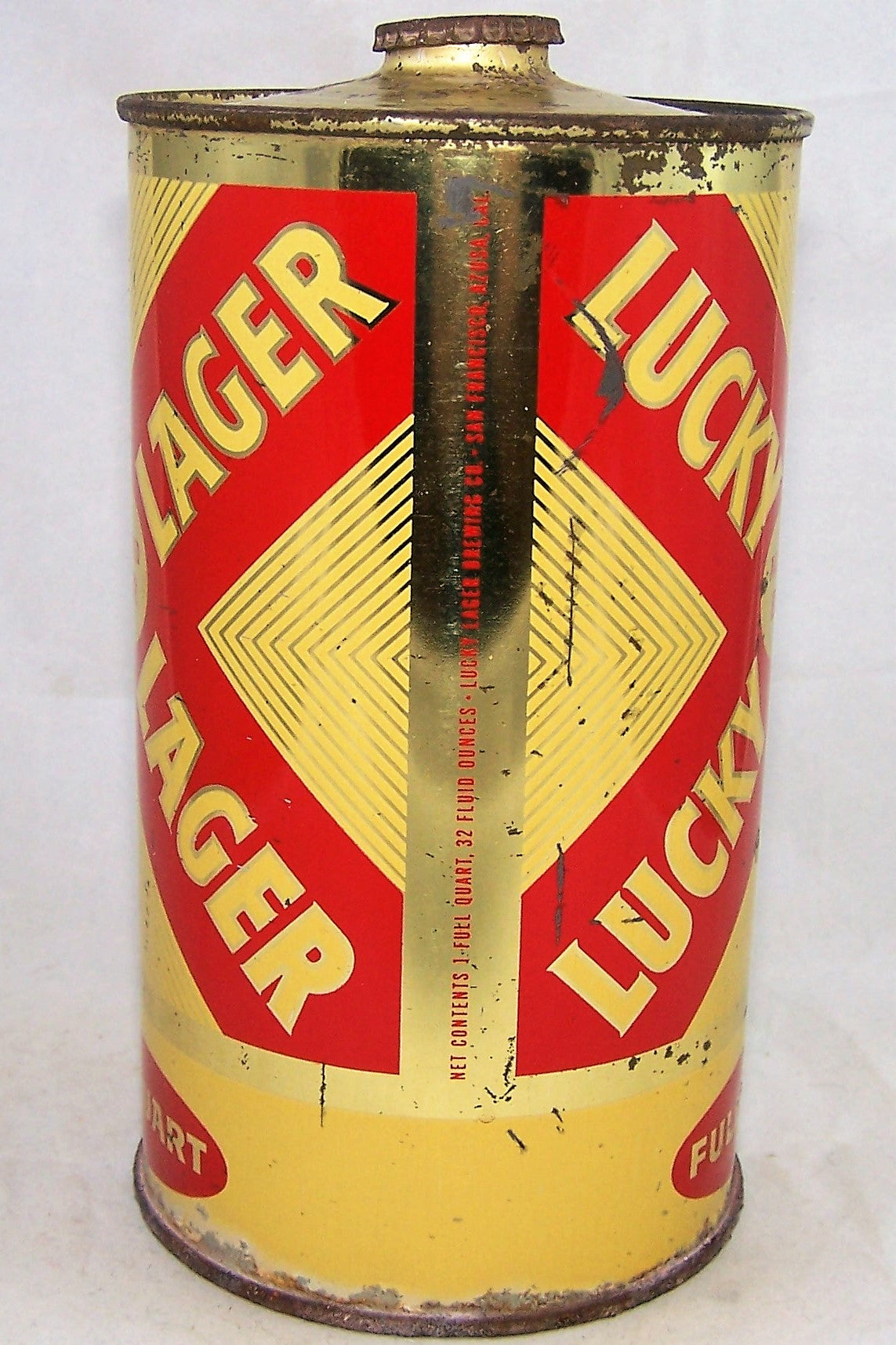 Lucky Lager Quart, USBC 214-12, Grade 1/1- Sold on 05/26/18