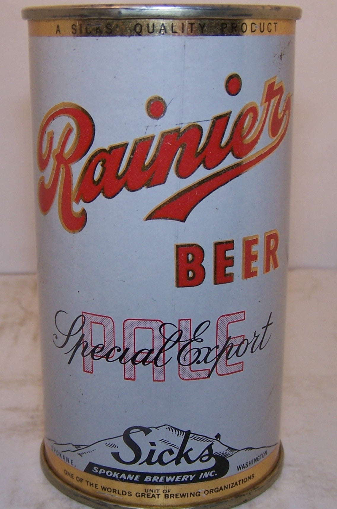 Rainier Special Export Pale Beer, Lilek page # 705, Grade 1 Sold 4/20/15