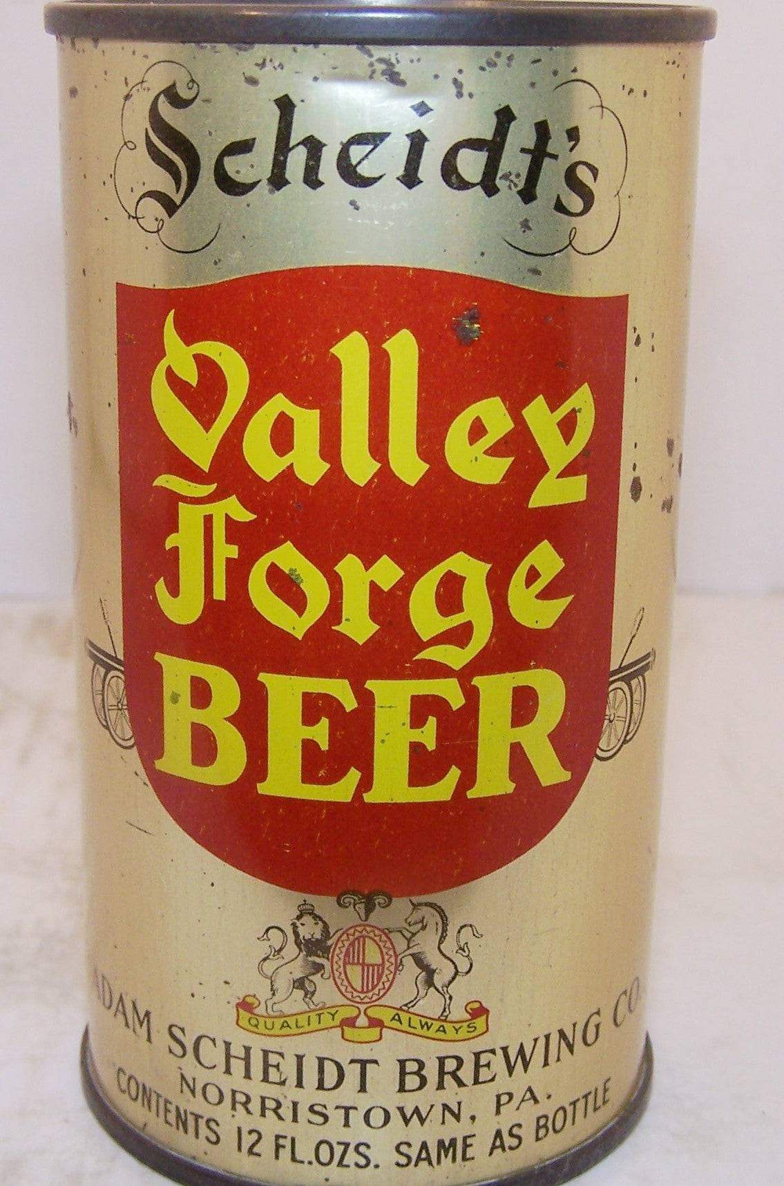 Scheidt's Valley Forge Beer, Lilek page # 832, Grade 1/1-sold 4/5/17