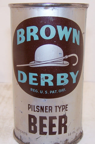 Brown Derby Pilsner Type Beer, Lilek page # 123, Grade 1-/2+ Sold on 4/15/15