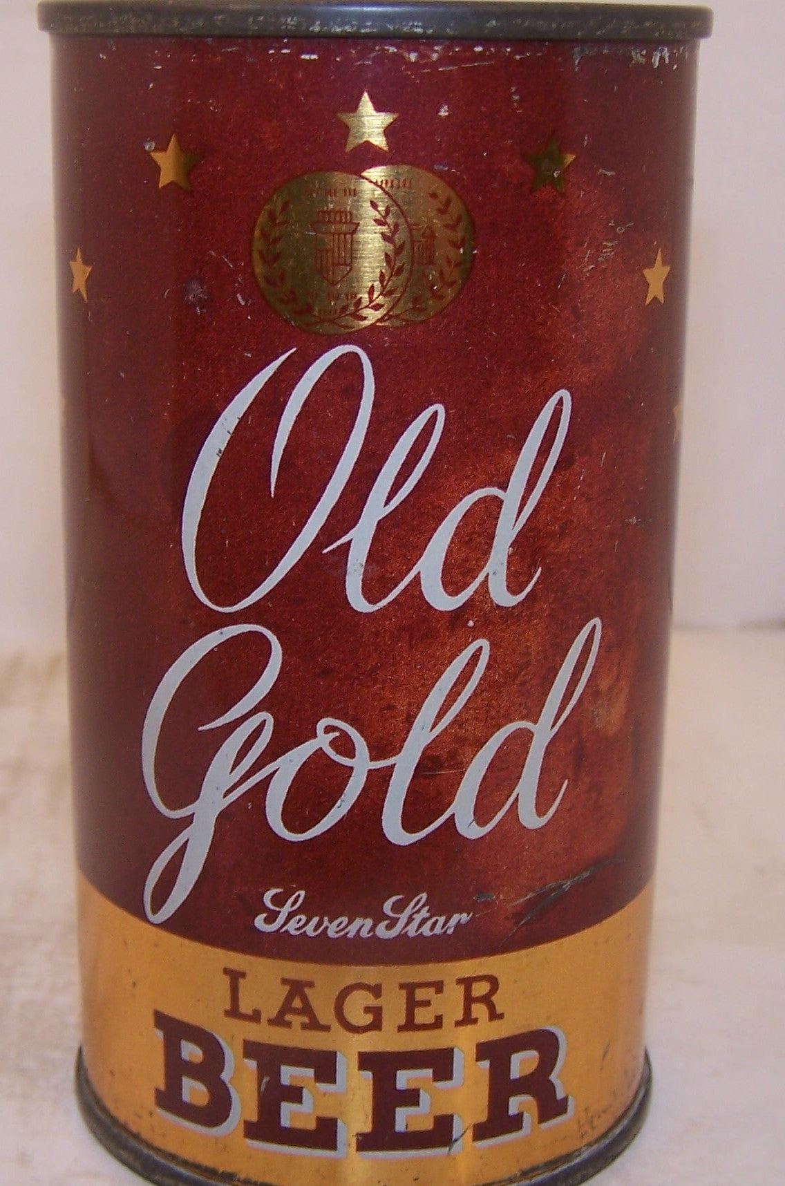 Old Gold Seven Star Lager Beer, Lilek page # 608, Grade 1-/2+ Sold 3/14/15