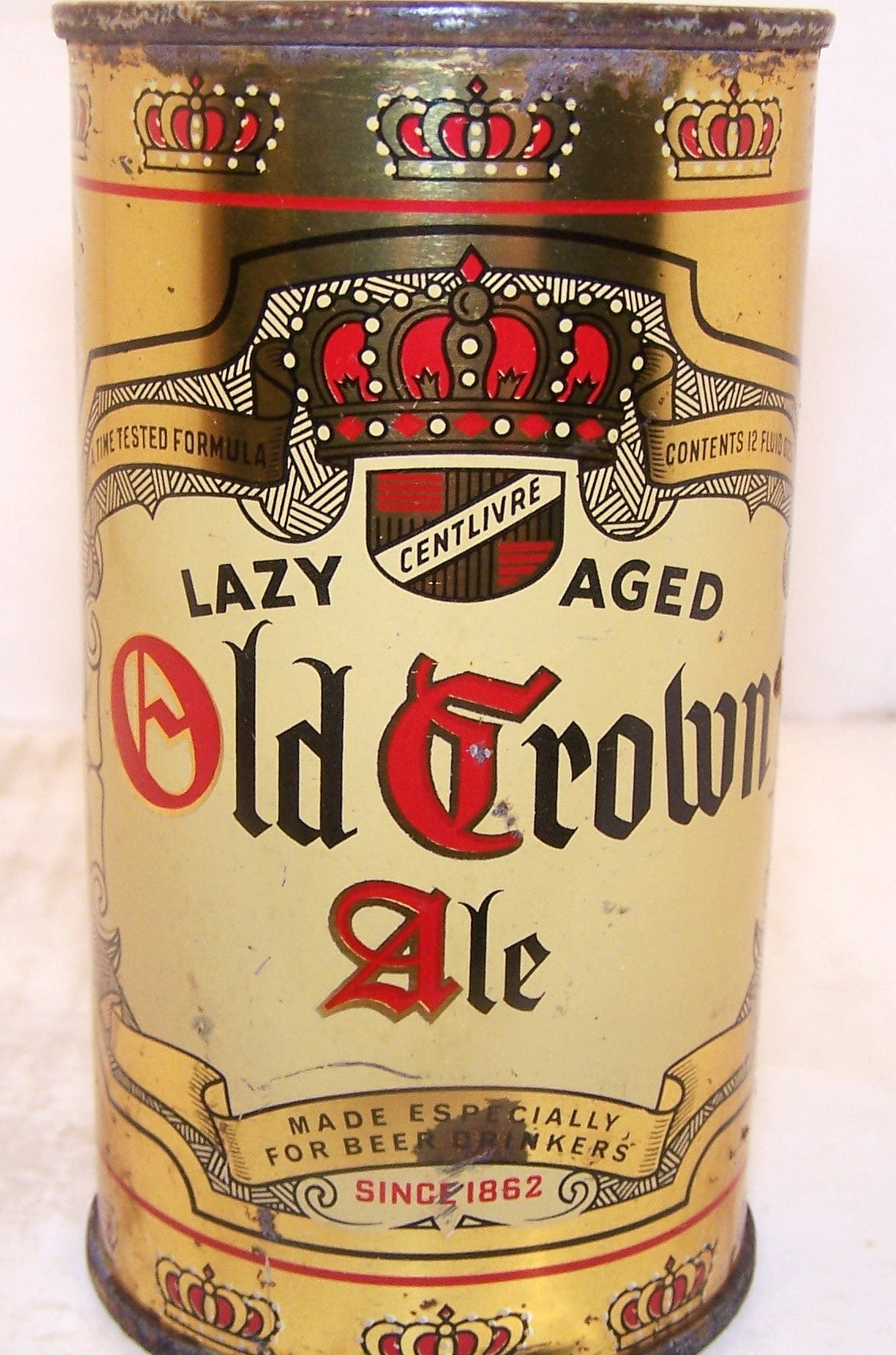 Old Crown Ale Lazy Aged, Lilek page # 588, Grade 1/1- Sold on 4/12/15