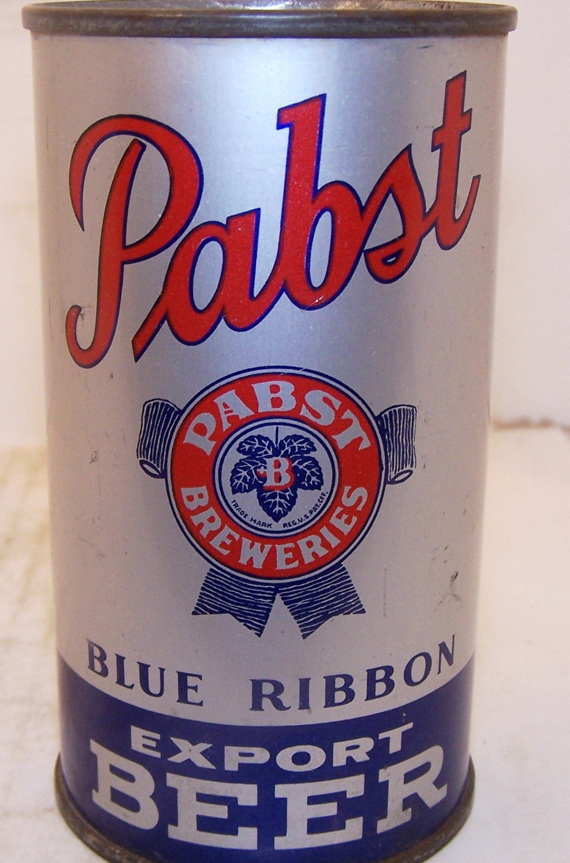 Pabst Blue Ribbon Export Beer (Red Opener) Lilek page # 655, Grade 1 Sold on 11/19/14