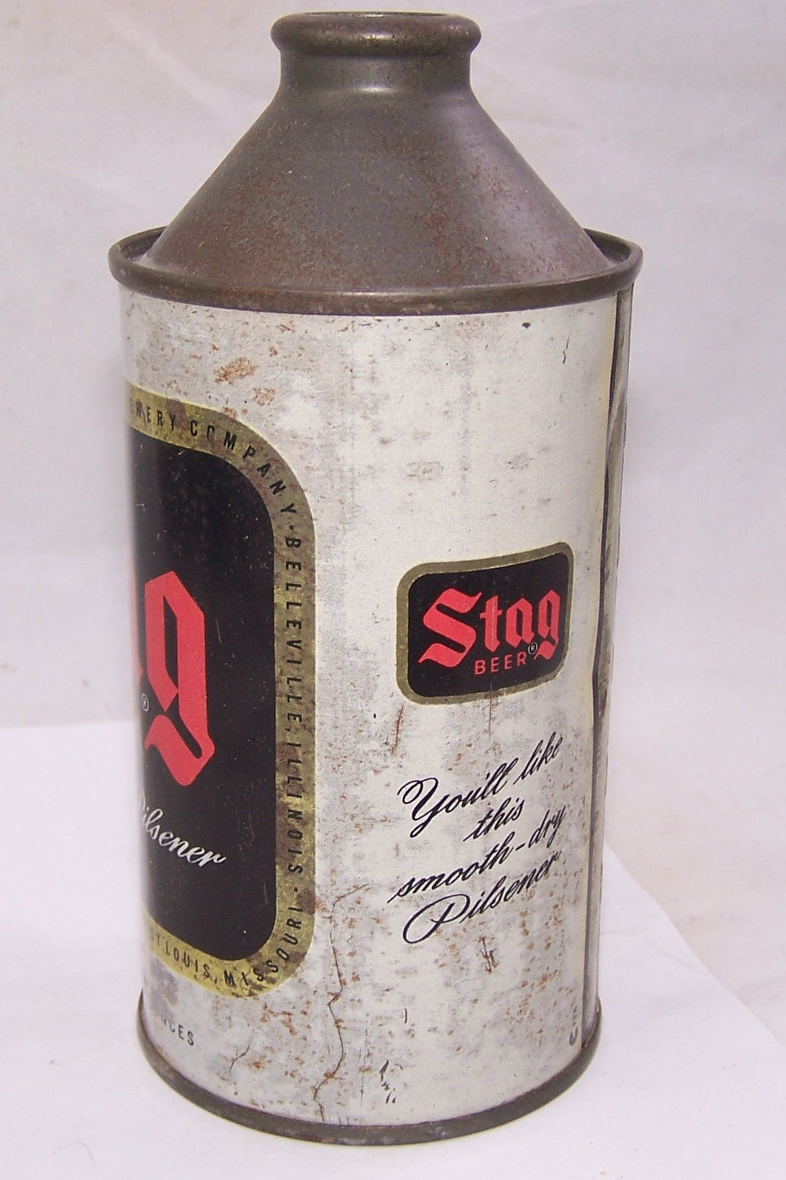 Stag Cone Top Beer Can