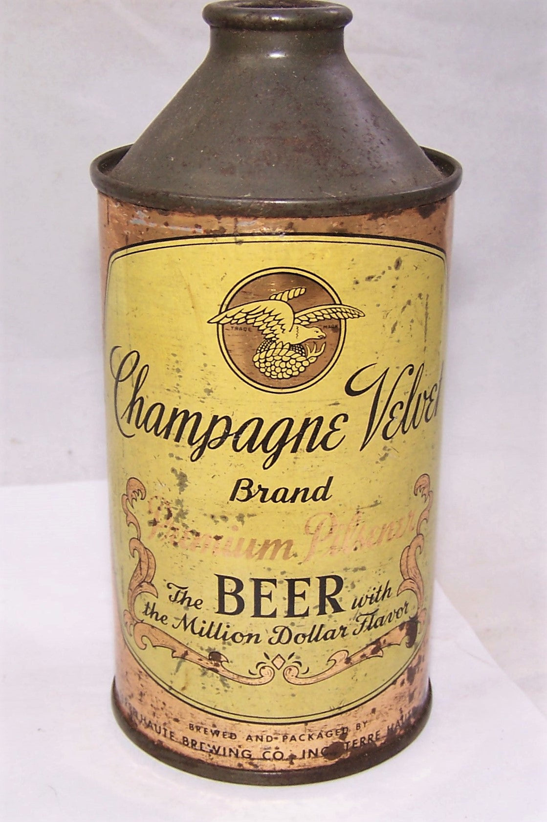 Champagne Velvet Cone Top Beer Can
