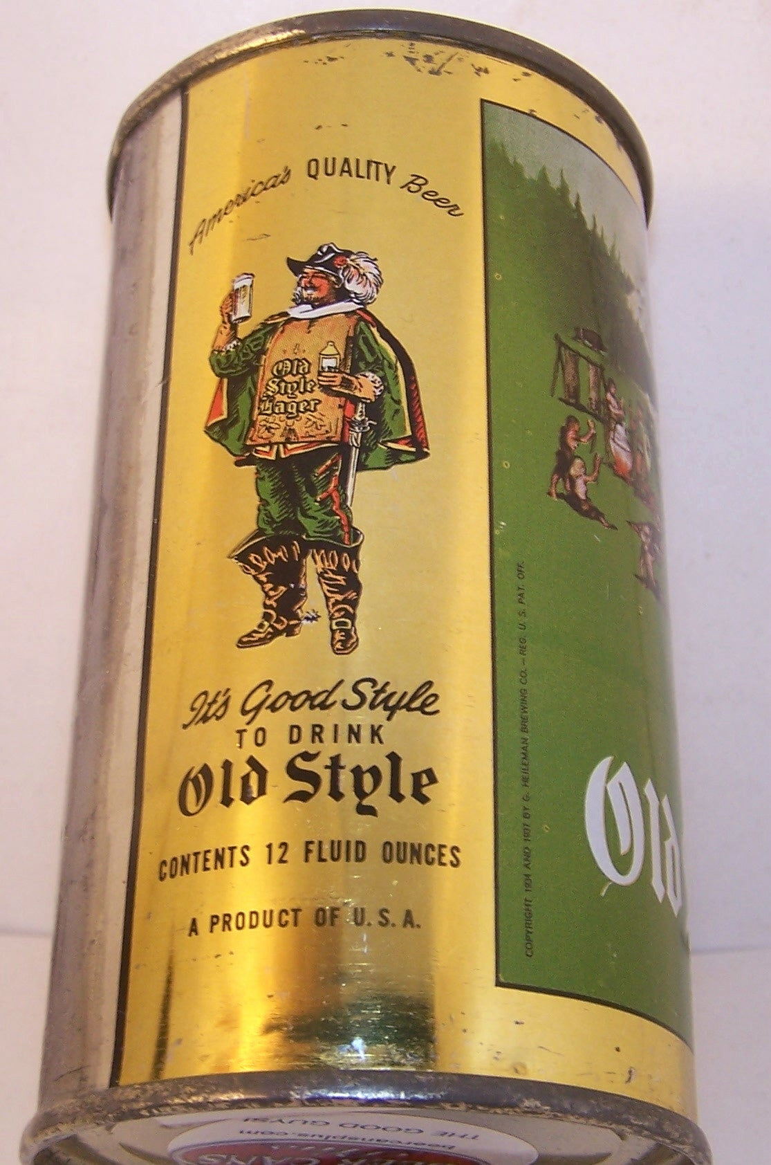 Old Style Lager Beer, USBC 108-10 Grade 1/1+ Traded 3/22/15