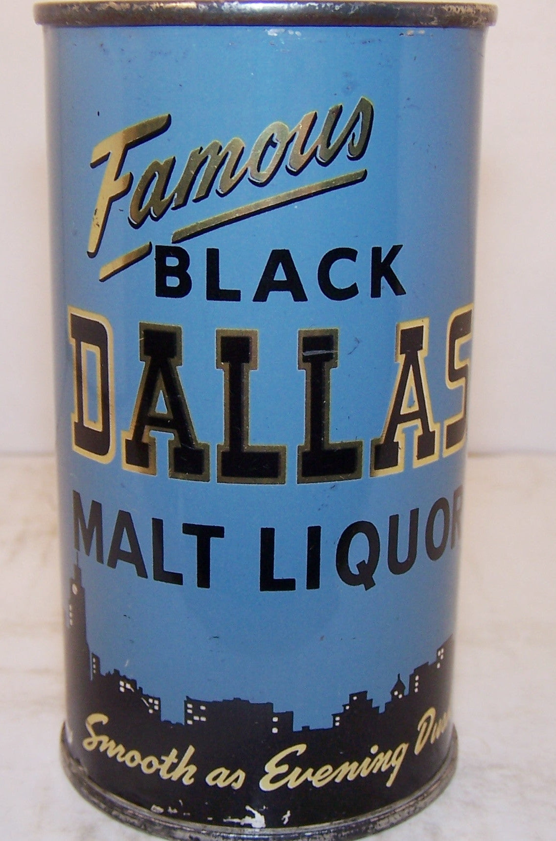 Black Dallas Malt Liquor, USBC 37-21, Grade 1/1+ Sold 5/3/15