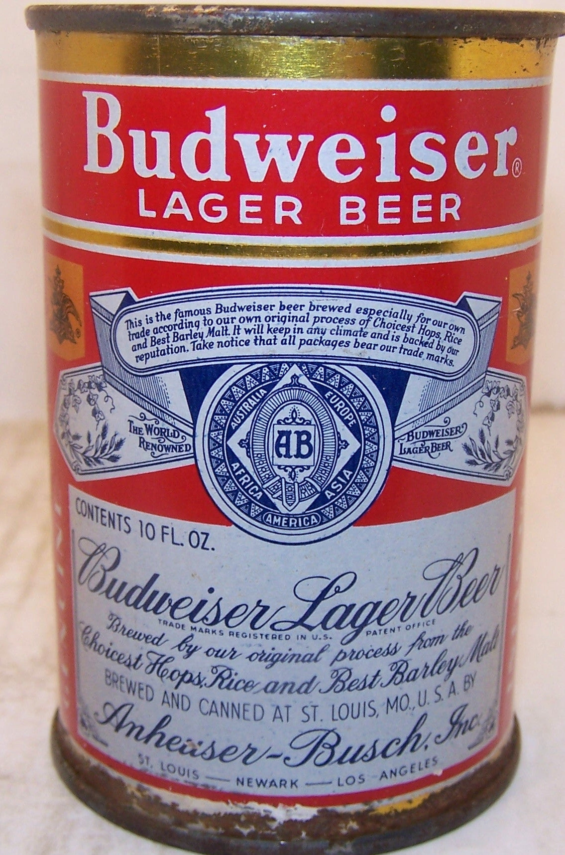 Budweiser 10 ounce Lager Beer, USBC 44-9 Grade 1- Sold on 10/11/15