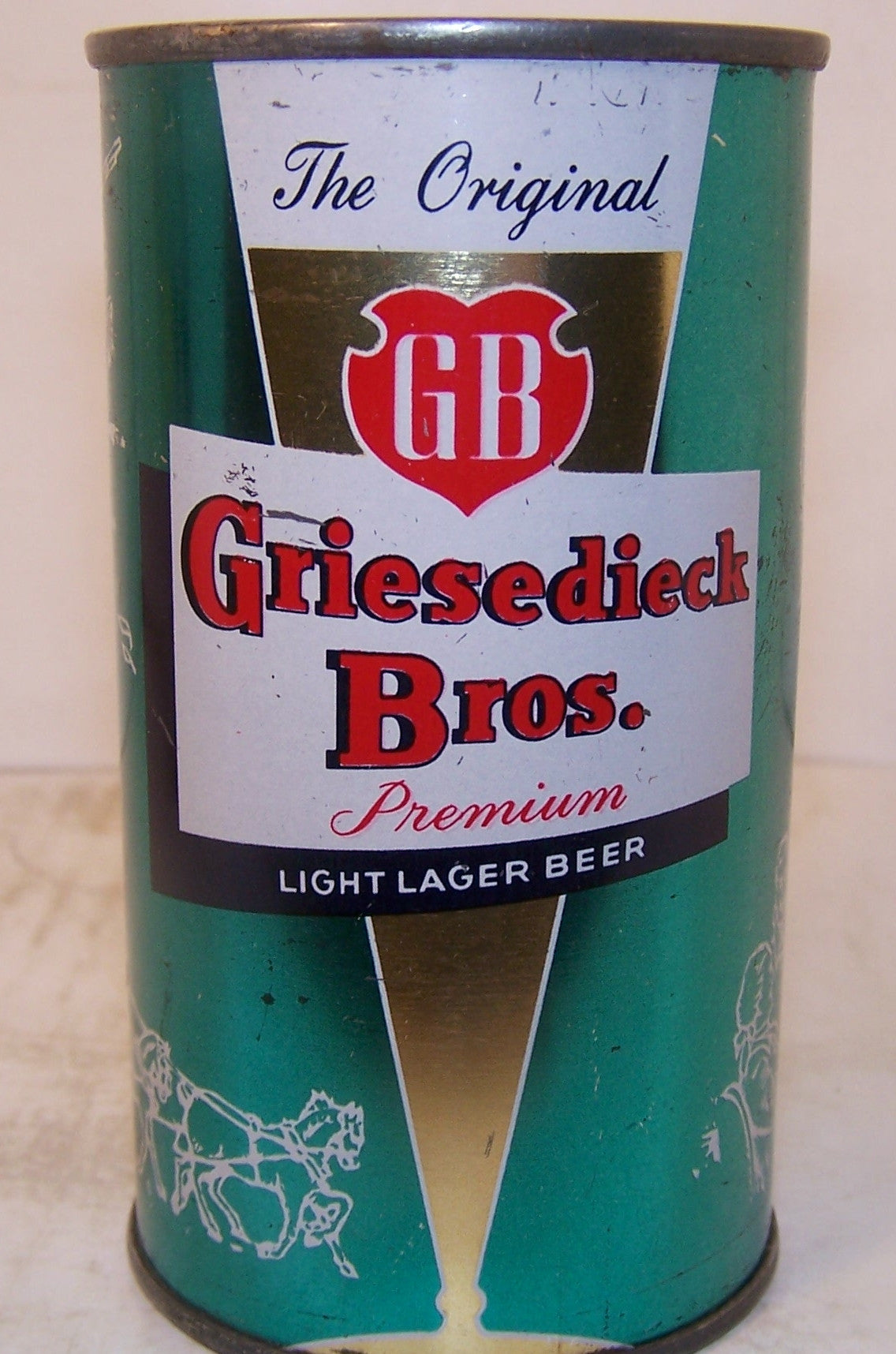 Griesedieck Bros. Premium Beer, USBC 76-18 (Green) Grade 1- Sold on 10/06/17