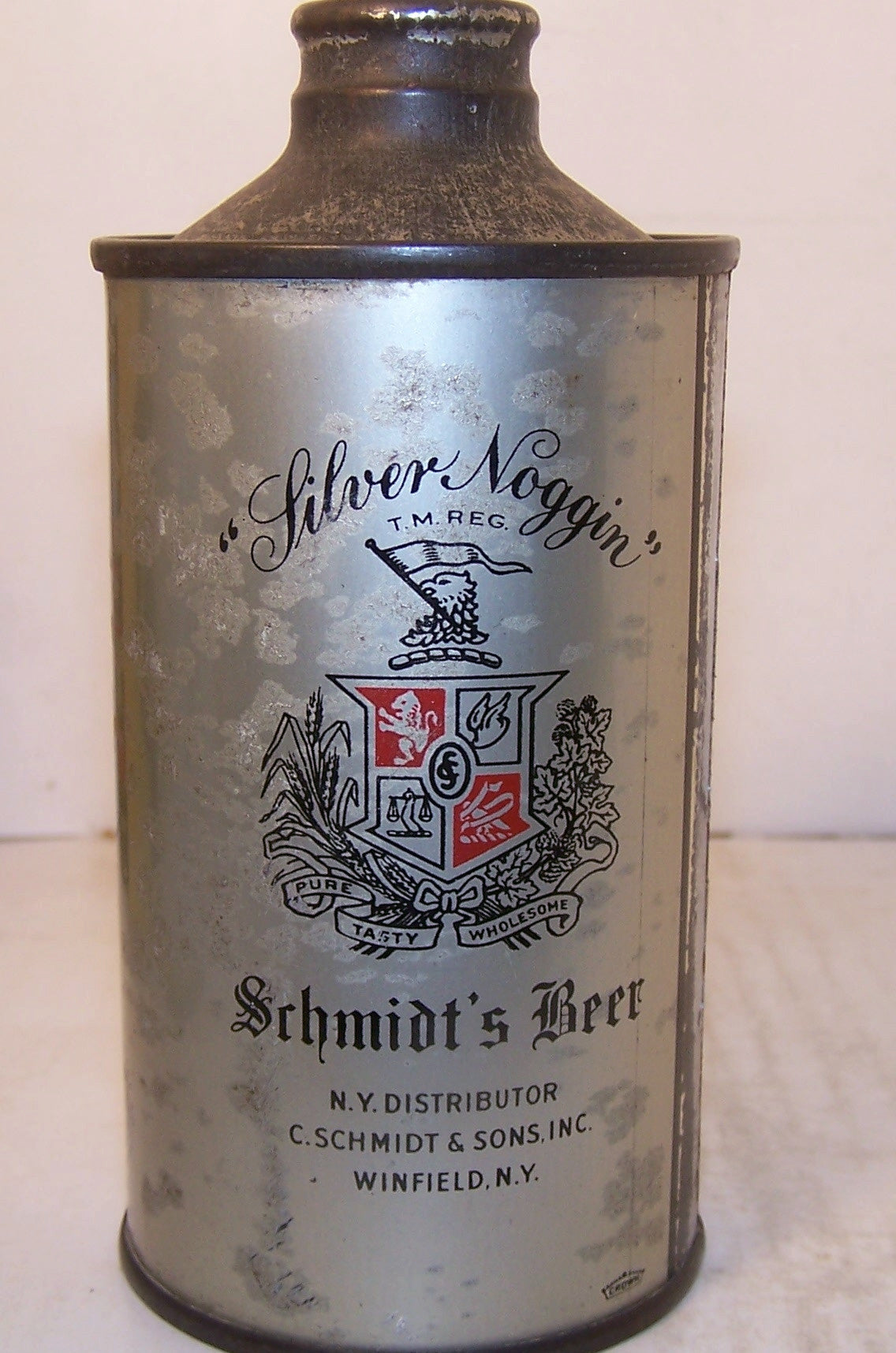 Schmidt's Light Beer, (J-spout) USBC 184-30, Grade 1-/2+ Sold 4/10/15