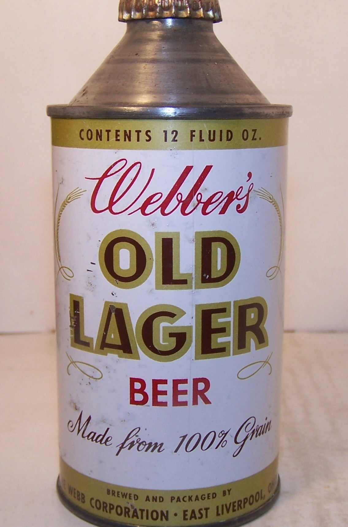 Webber's Old Lager Beer, USBC 188-27, Grade 1- Sold on 9/22/15