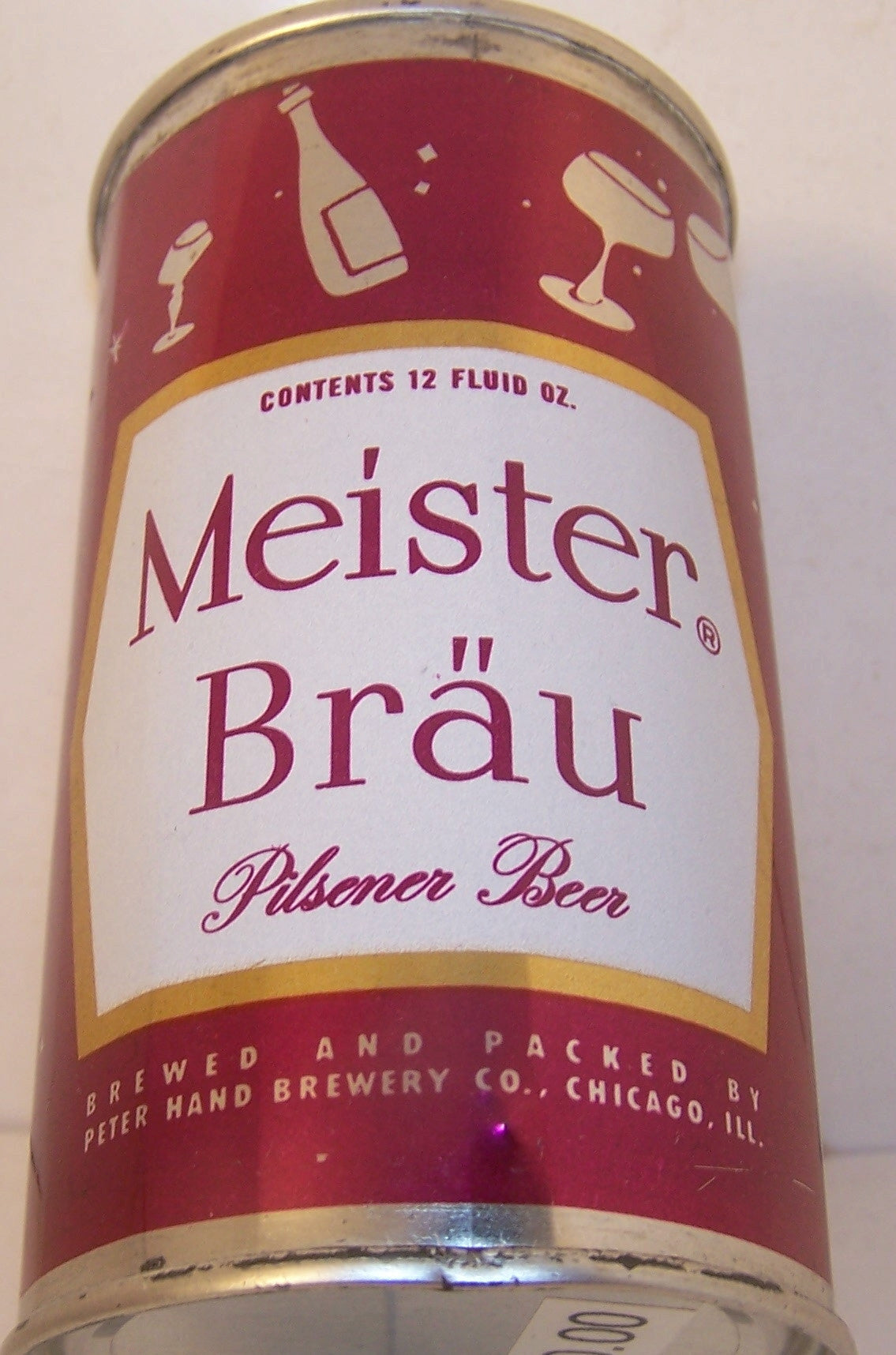 Meister Brau Pilsener Beer (Glasses and Bottles) USBC 95-29, Gsold 6/18/16rade 1/1+
