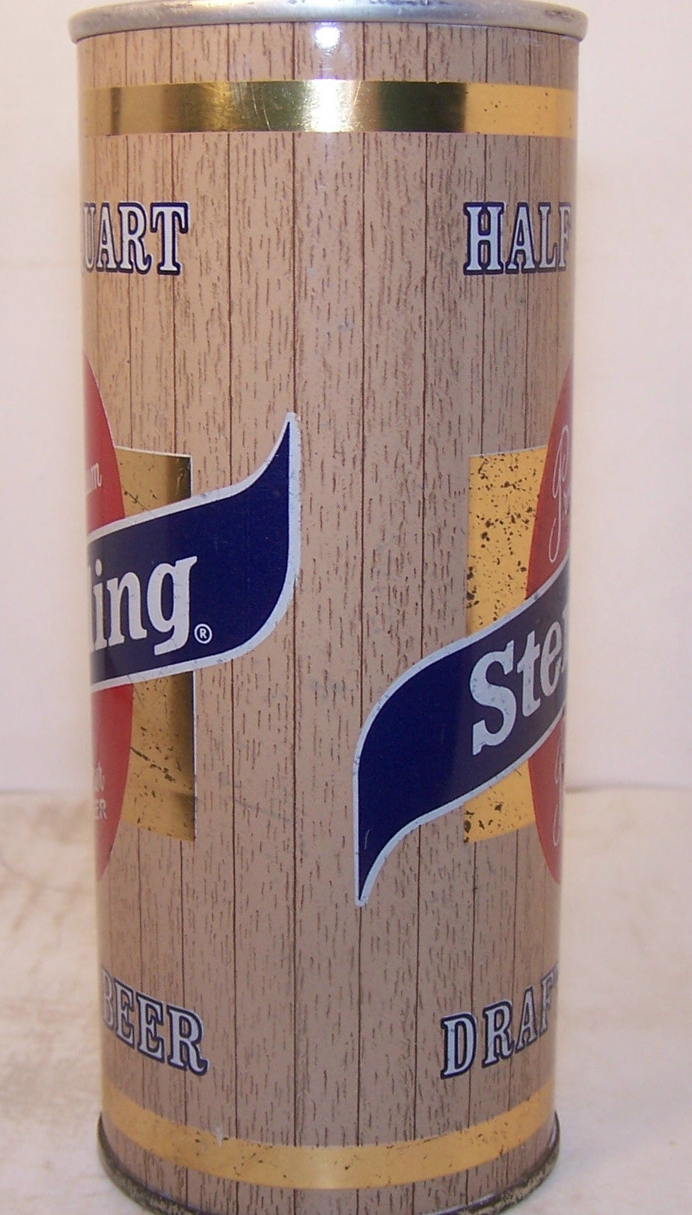 Sterling Pilsener Beer, USBC II 168-9, Grade 1 Darker wood grain.