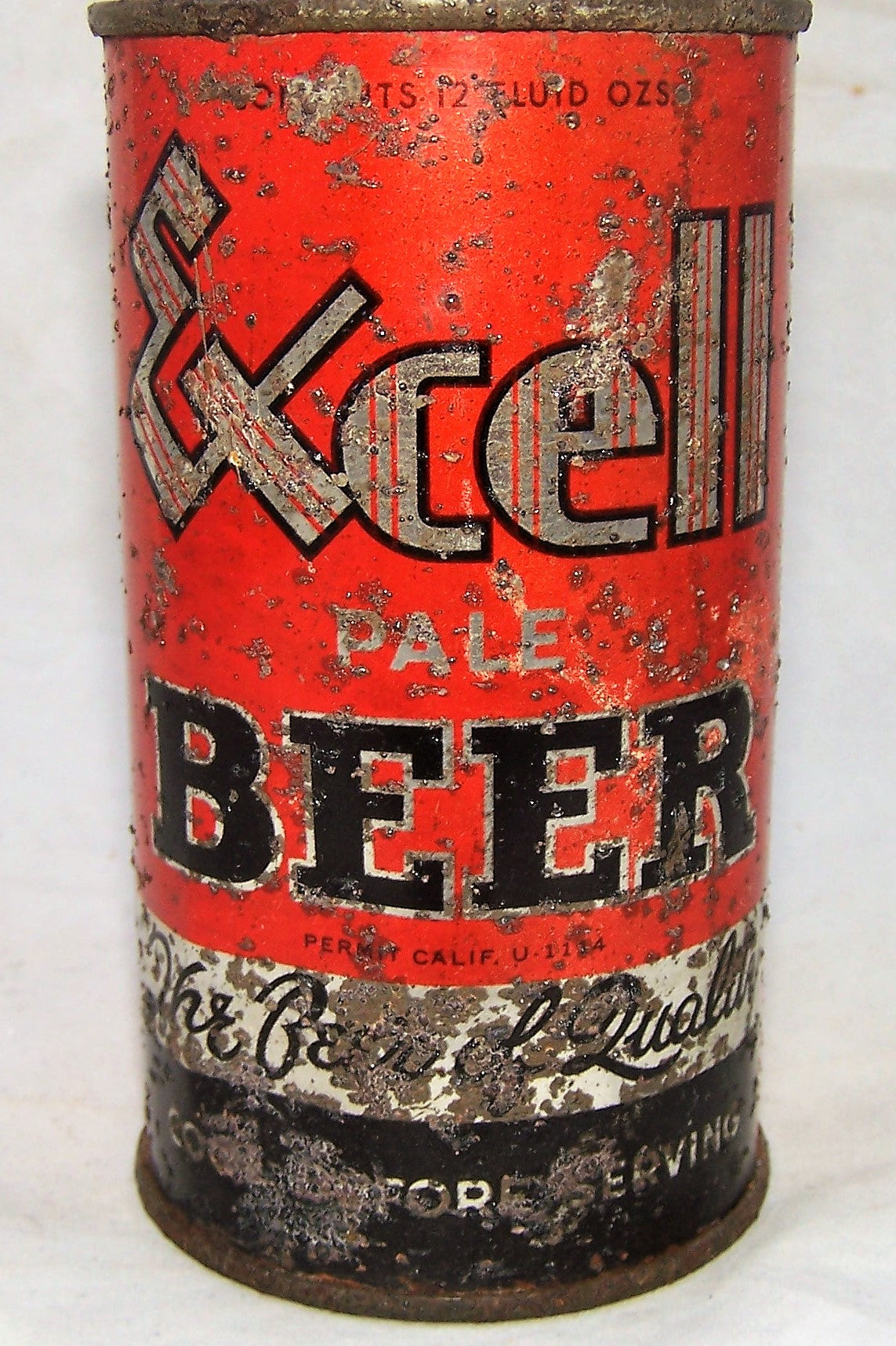 Excell Pale Beer O.I, Dumper can, solid.