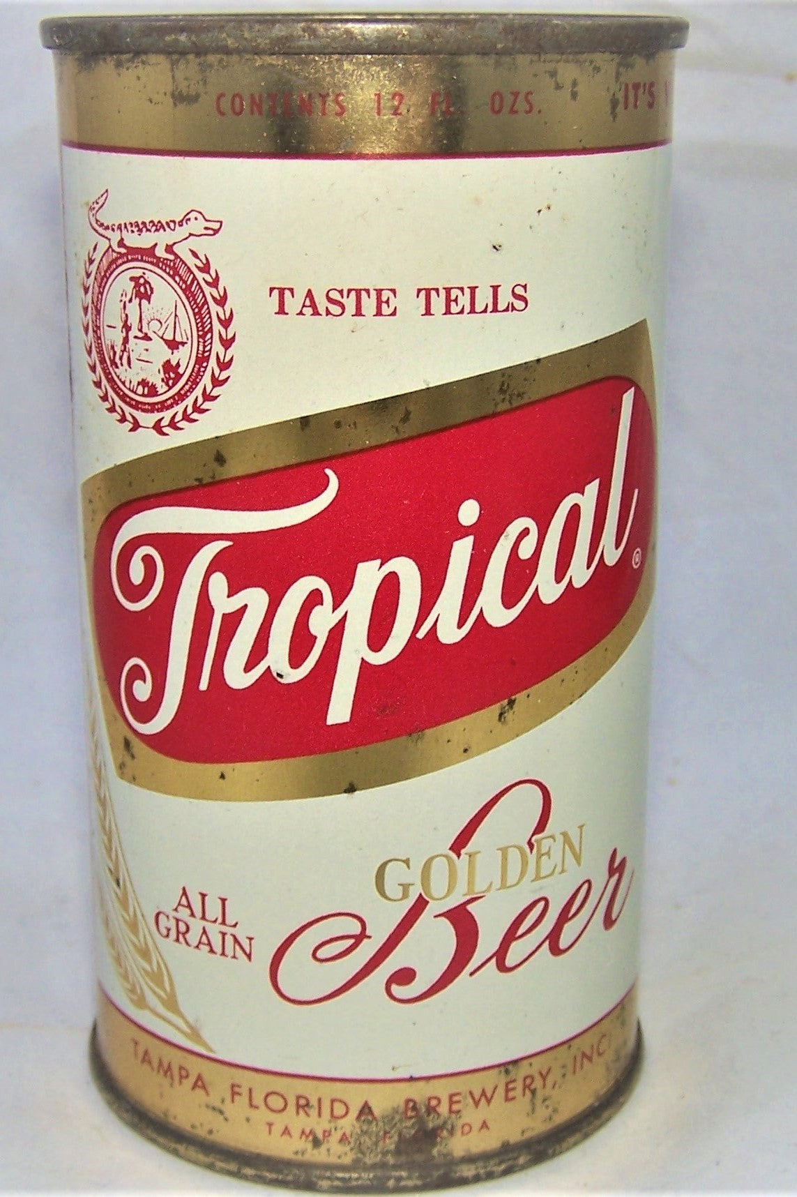 Tropical Golden Beer Grade 1- Florida can