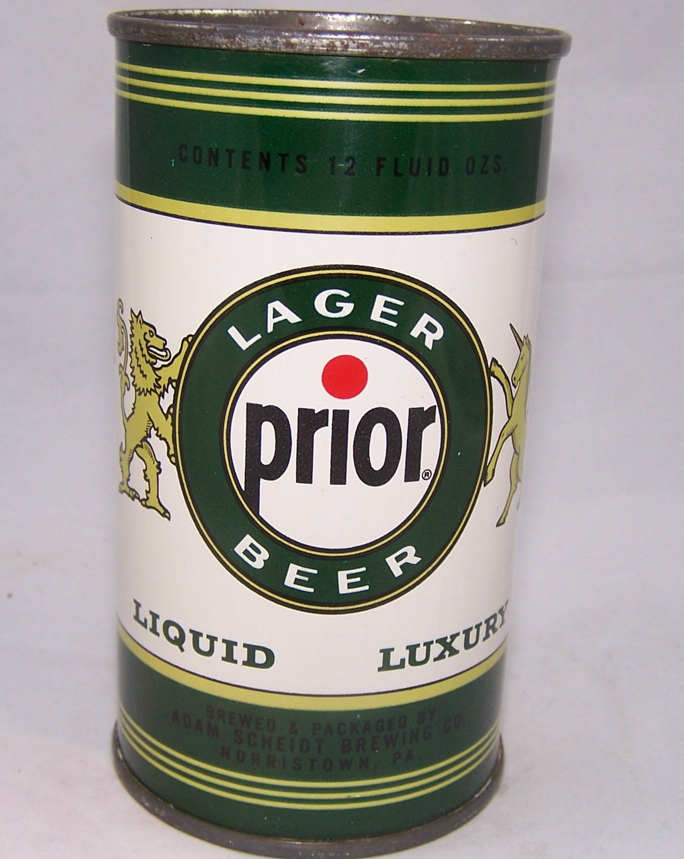 Prior Lager Beer (Yellow Trim) USBC 117-03, Grade 1/1+ Sold on 12/29/16