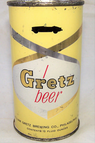 Gretz Car Can (Red Lettering) USBC 75-09, Grade 1/1-