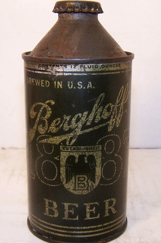 Berghoff Beer Olive Drab, USBC 151-23, Grade 1/1- Sold!!