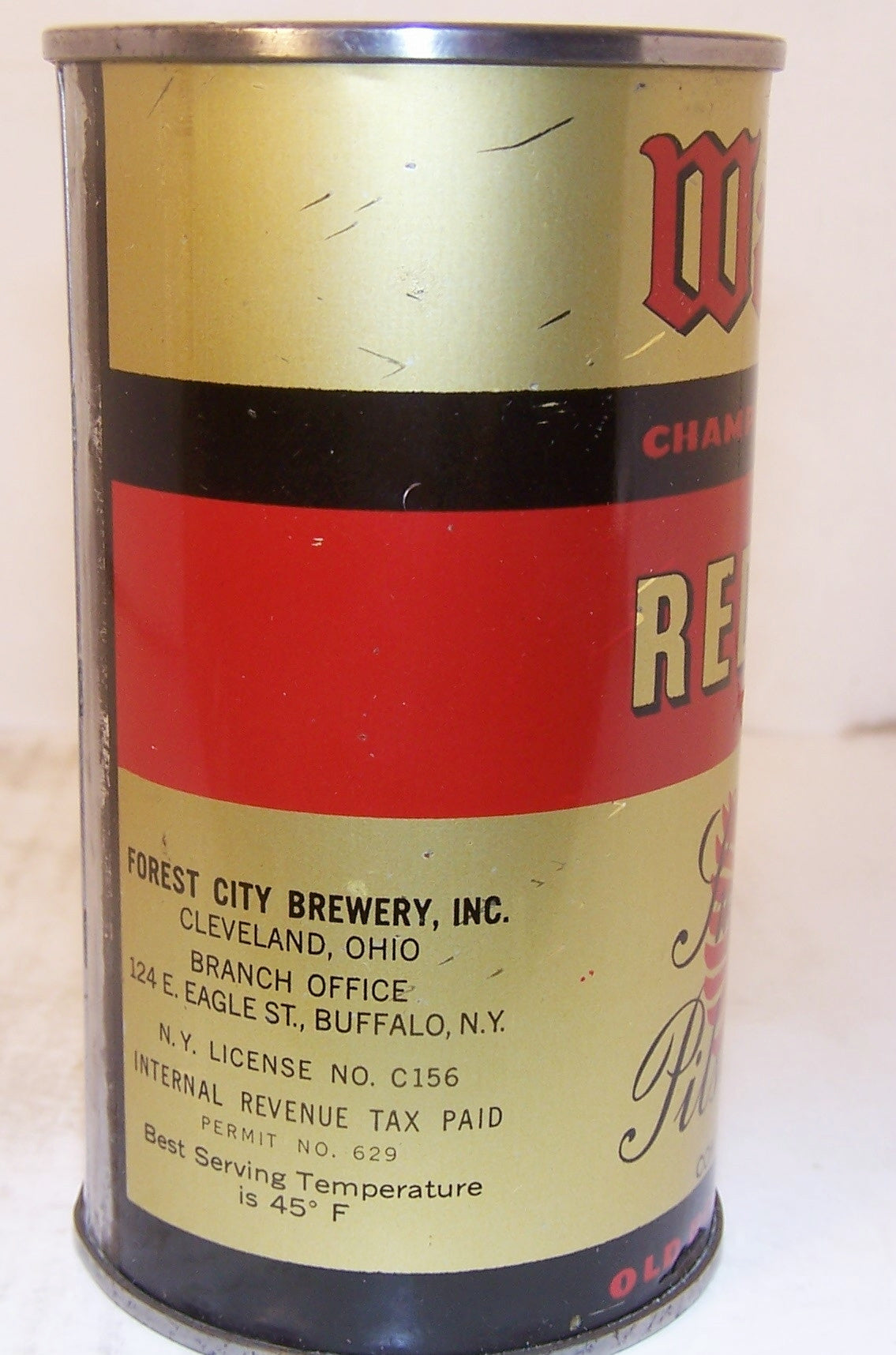 Waldorf Red Band Beer, Lilek page # 859, Grade 1 Sold 2/13/15