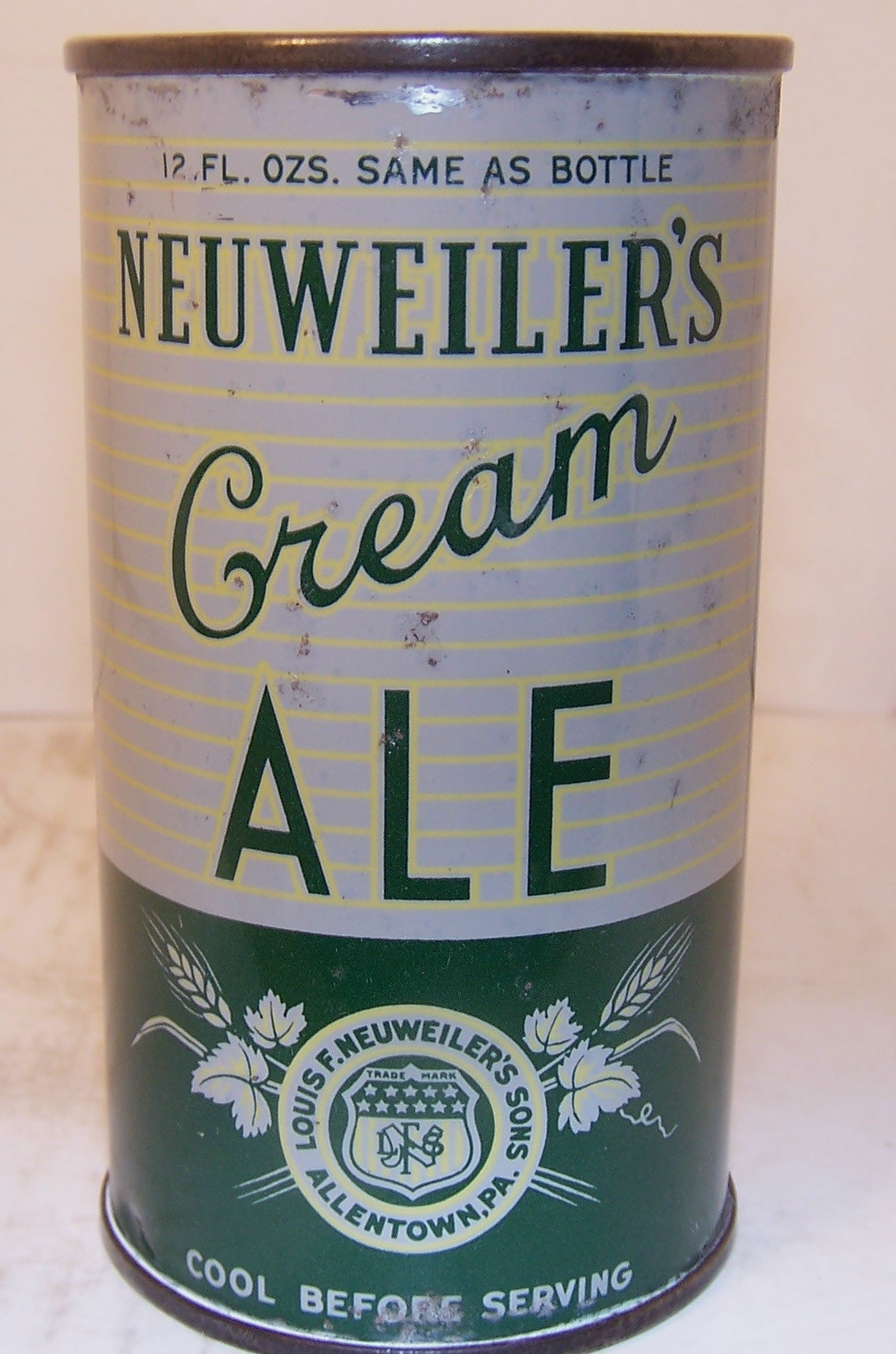 Neuweiler's Cream Ale, (Dull Gray) Lilek page # 561, Grade 1-  Sold on 02/24/20