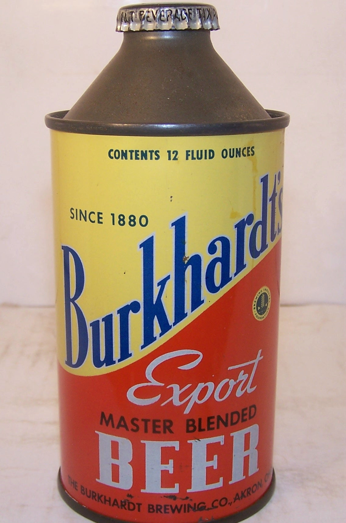 Burkhardt's Export Beer, USBC 156-4, Grade 1 Traded