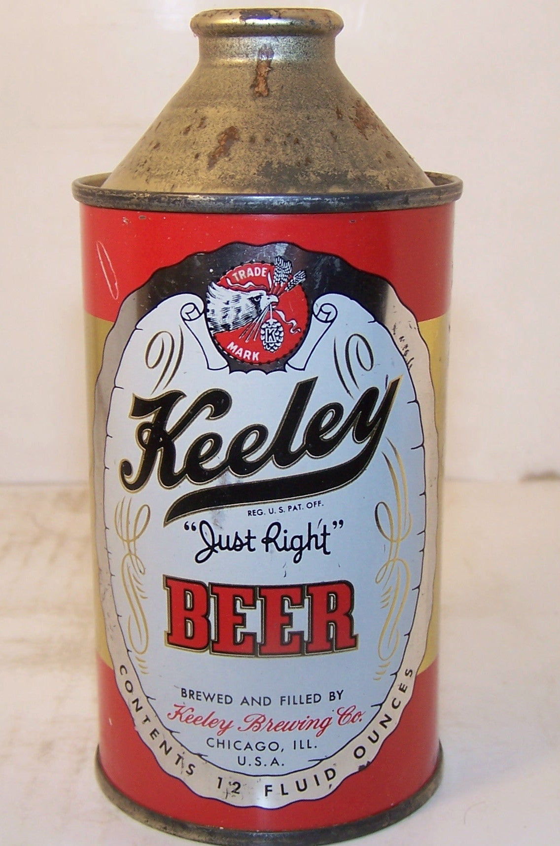 "Keeley ""Just Right"" Beer, USBC 171-11, Grade 1 Sold 5/17/15"
