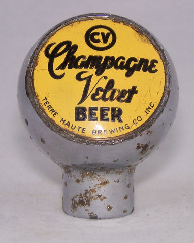 Champagne Velvet Beer Ball Knob, Unlisted, Grade 7 Sold 7/19/16