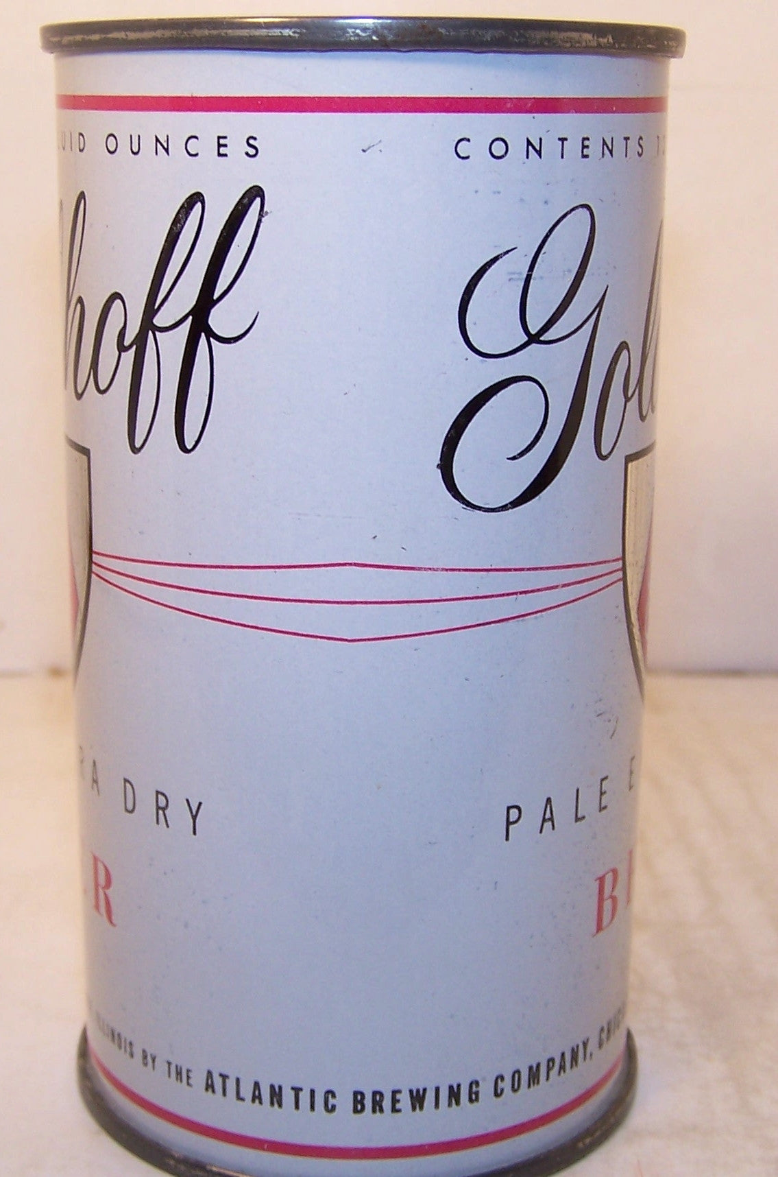 Goldhoff Pale Extra Dry Beer, USBC 71-39, Grade 1