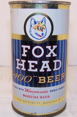 "Fox Head 400 Beer ""Red Writing"" USBC 66-12, Grade 1 Sold 1/19/15"