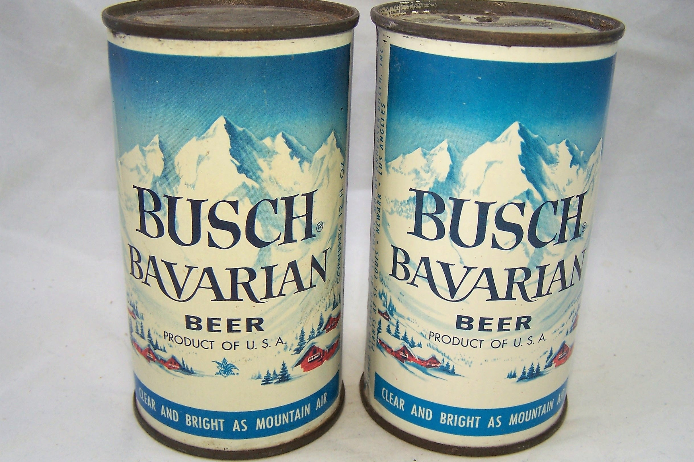 Two clean Busch Flats, Same can, both clean. Grade 1