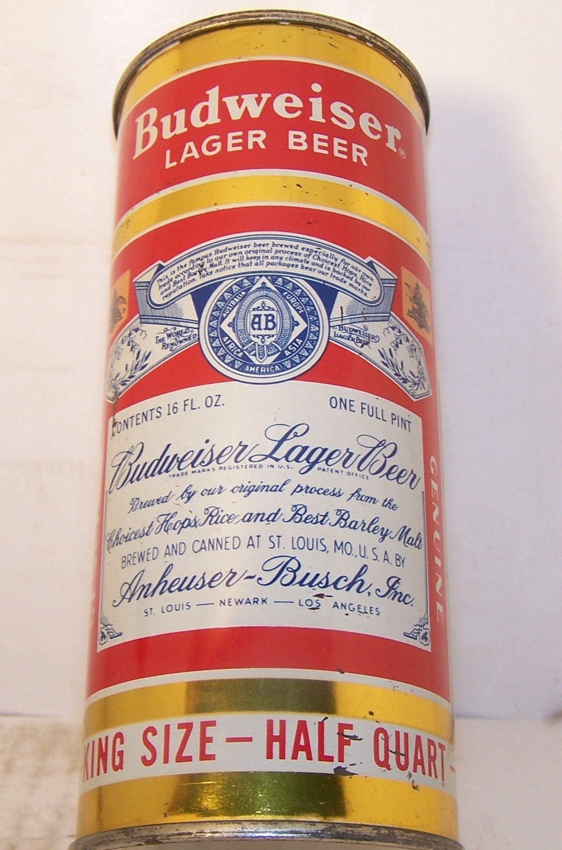 Budweiser Lager Beer, USBC 226-23, Grade 1 to 1/1+ Sold on 05/13/16