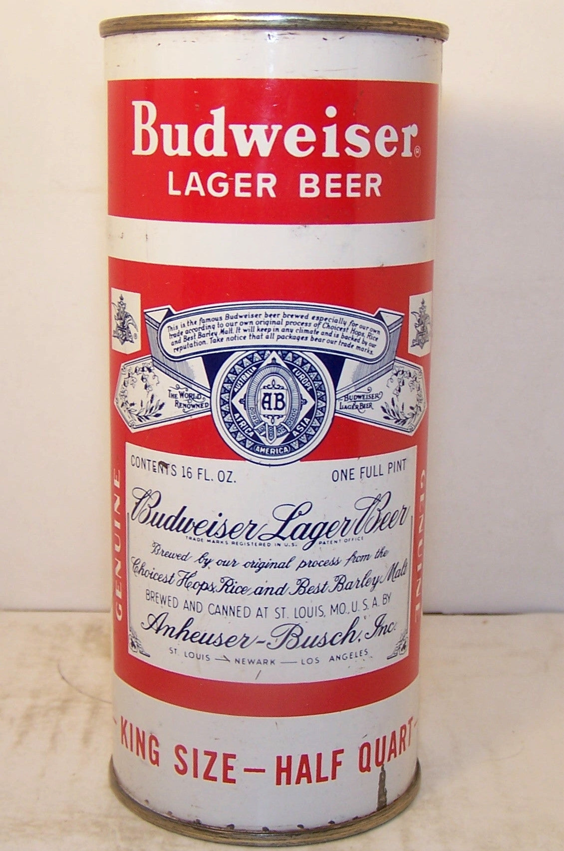 Budweiser Lager Beer, USBC 226-24, Grade 1- Sold on 05/02/17