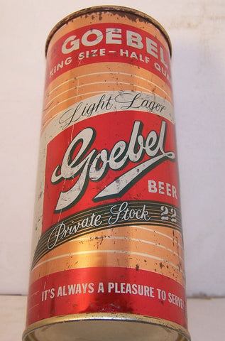 Goebel Private Stock 22 Light Lager, USBC 229-24, Grade 1- Sold 4/11/15@
