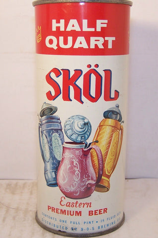 Skol Eastern Premium Beer, half quart, USBC 235-32, Grade 1/1+ sold on 10/10/15