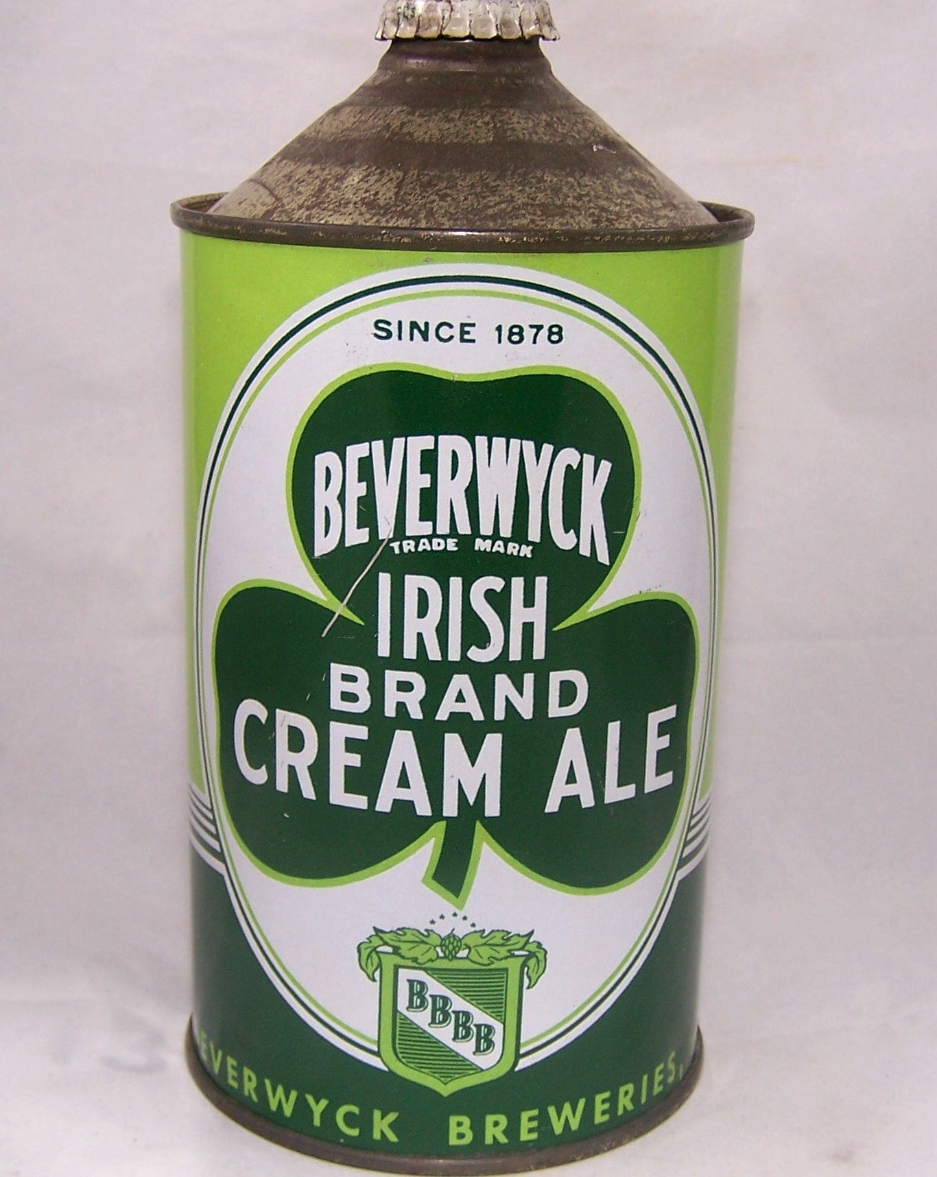 Beverwyck Irish Brand Cream Ale, USBC 203-05, Since 1878, Grade 1 Sold on 09/16/16