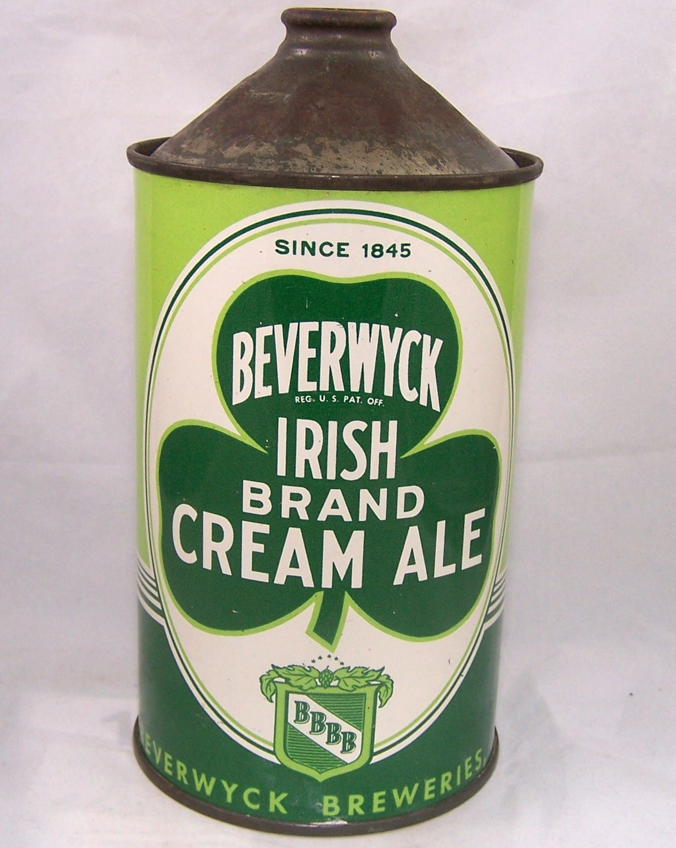 Beverwyck Irish Brand Cream Ale, USBC 203-04 Grade 1 to 1/1+ Sold on 12/29/16